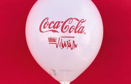 چاپ بادکنک تبلیغاتی کوکا کولا